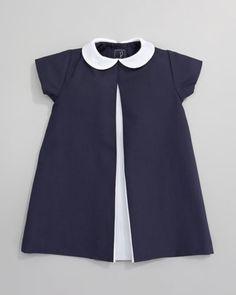 Oscar de la Renta Pique A-line Pleated Dress - Kinder Kleidung Little Dresses, Little Girl Dresses, Girls Dresses, Baby Dresses, Dress Girl, Baby Outfits, Kids Outfits, Cute Outfits, Sewing For Kids