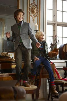 this is how my husband dresses (especially the kid on the right) - hopefully his fashion sense will rub off on our future kids!