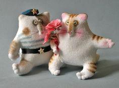 «Мартовский, тёплый, сердешный»: шьём весеннего поздравительного кота - Ярмарка Мастеров - ручная работа, handmade