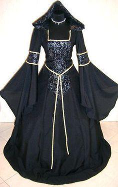 MEDIEVAL DRESS GOTH XL-2XL-3XL 20-22-24 COSTUME VAMPIRE HALLOWEEN WITCH LOTR REN #Custommade #Dress