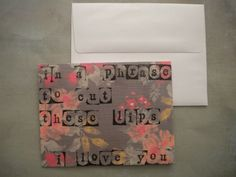 Coheed and Cambria  Wake up Lyric greeting card by WordsonCanvas, $2.50