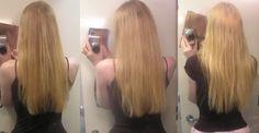 papatya suyu ile rengi açılmış saç örneği