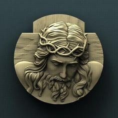 For CNC. Copyrighted STL model for cnc router, compatible with Aspire and Artcam. Wood Carving Designs, Wood Carving Art, 3 D, 3d Cnc, Cnc Wood, Modelos 3d, Jesus Art, Sacred Art, Creative Art