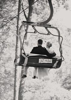 Just Married Ski Lift, Elizabeth Anne Designs