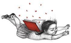 Noemi Villamuza, dibujos llenos de ternura - Esto no es arte Lovers Art, Book Lovers, Slide Background, Positive Art, Reading Art, Dream Book, Lectures, World Of Books, Color Splash