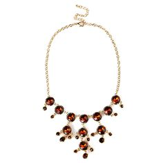Fractal Oolong Rhinestone Statement Choker Necklace