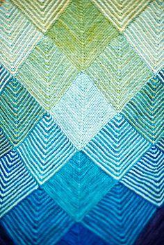 Modular knitting squares - originally created by Maie Landra at Koigu