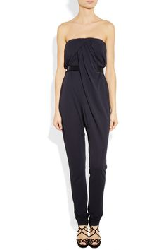 Halston Heritage Draped crepe-jersey jumpsuit - 59% Off Now at THE OUTNET.  I need this!