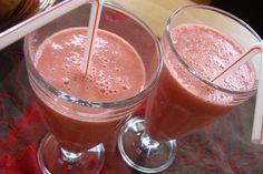 Aardbei-framboos smoothie - Junnekes recepten