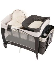 Graco Pack 'n Play Playard with Newborn Napper Elite, in Vance, truly grows with your child. It will easily transition as you place your newborn in the cozy napper station, then as your infant rests i