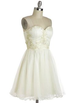 Marshmallow Whirl Dress, #ModCloth