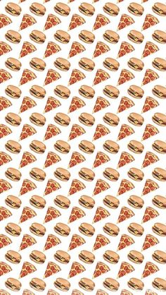 Pizza burger iPhone wallpaper
