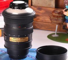 Nikon Camera Lens Coffee Tea Mug/ Every true artist harbors a caffeine addiction, and photographers are no exception. Realize your dream of consuming liquids from your photography gear and satisfy your thirst using the stylish Nikon Lens Mug. http://thegadgetflow.com/portfolio/nikon-camera-lens-coffee-tea-mug-32/