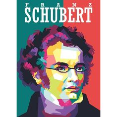 "FRANZ SCHUBERT  31 January 1797 – 19 November 1828) was an Austrian composer of the late Classical and early Romantic eras. Despite his short lifetime, Schubert left behind a vast oeuvre, including more than 600 secular vocal works, seven complete symphonies, sacred music, operas, incidental music and a large body of piano and chamber music. His major works include the Piano Quintet in A major, D. 667 (Trout Quintet), the Symphony No. 8 in B minor, D. 759 (Unfinished Symphony), the ""Great""… What Is Classical Music, Pop Art Face, Animation, Romantic, Concept, Cartoon, Abstract, Drawings, Illustration"