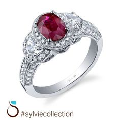 Happy Birthday to the July Babies! We love your ruby birthstone! @sylviecollectn #birthstone #diamonds
