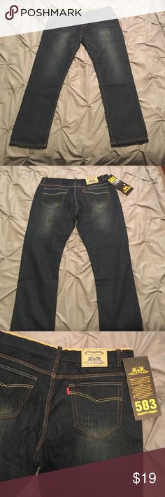 Men's jeans Dark brown with slight wash, straight leg, brand new and never worn. Size 38 regular Jeans Straight