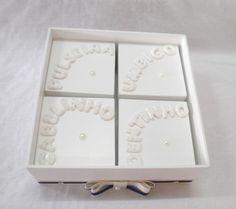 Caixa Minhas Recordações Azul Marinho | Oficina do Bebê artesanto | Elo7