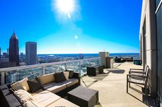Midtown Penthouse Wants $1.3M Address: 855 Peachtree St NE #3601, Atlanta, GA 30308 Neighborhood: Midtown 2 Beds | 2 Baths | 2,207 sqft | Built in 2008 | Listed on 03/23  The 800 foot terrace with unobstructed views makes the whole deal sweet.