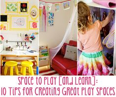 Creating rich, playful spaces for children inspires them and it& easy to do with these 10 handy tips. Play Spaces, Learning Spaces, Learning Environments, Kid Spaces, Play Areas, Learning Stations, Play Rooms, Kids Rooms, Early Learning