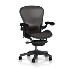 Steelcase Think Chair, Knit Back Brown, All Features, Adjustable Arms, Adjustable Lumbar Support – Office Chair @ Work
