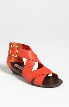 I'm impressed Steve Madden. Triple snaps for your sandal..now, mark it down cuz it probably cost you two bucks to make it.
