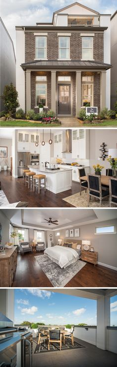 The Albury by David Weekley Homes in Oak Park is a 4 bedroom 3 bathroom home that features an open kitchen layout, a 2 car garage and a large owners retreat. Custom home options including a 3rd floor city view deck, a super shower and lanai room.
