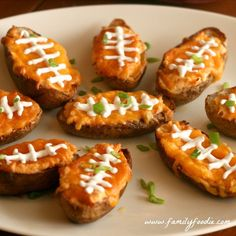 Buffalo Chicken Wing Dip Potato Skins #SundaySupper