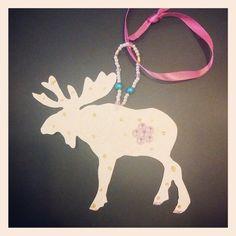 Endnu en #kollegaelg! Tak søde Dorte! #glittter #moose  #elgfest