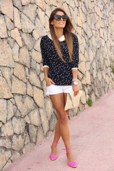 Love the shorts with sweater idea for season transitions!