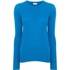 Drumohr Crew-neck Jumper ($235) ❤ liked on Polyvore featuring tops, sweaters, lambswool sweater, jumpers sweaters, crew sweater, blue jumper and crew neck sweaters