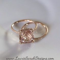 Beautiful morganite, rose gold engagement ring by @lauriesarahdesigns