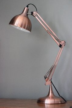 copper angled table lamp by the forest & co   notonthehighstreet.com