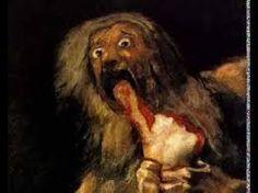Saturno devorando a su hijo-Goya (Museo del prado)