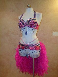 New Handmade Burlesque Samba Showgirl Feather by VaVaVoomCostumes, $215.00