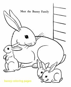 Bunny Coloring Pages With Simple Color Page Free Printable