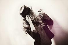 girl, portrait, hat