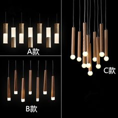 Cheap pendant lamp wood, Buy Quality lamp wood directly from China led pendant light fixtures Suppliers: Modern led pendant lighting fixtures kitchen dining room hang lights vintage led pendant lamp wood with acrylic shade 110V 220V