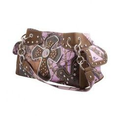 Mossy Oak Cross Pink Handbag