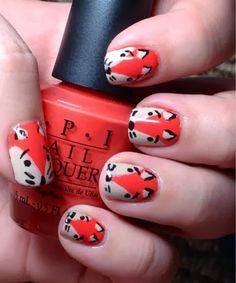 Fox Nails Nail Polish Designs, Cool Nail Designs, Fox Nails, Animal Nail Art, Pretty Nails, Inspired, Art Ideas, How To Make, Inspiration