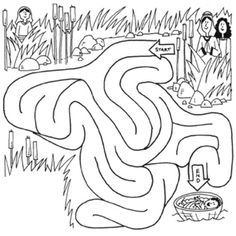 baby moses basket coloring page - Google Search