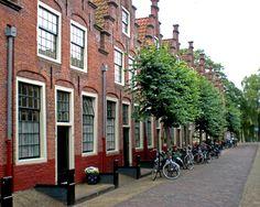 Haarlem,typical dutch housing! I love the brick!