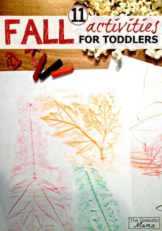 11 {Simple and Fun} Fall Activities for Toddlers