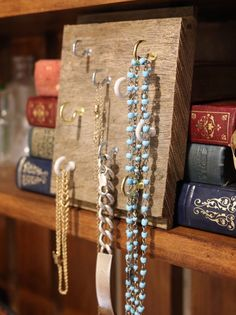 Reclaimed Wood Jewellery Organiser