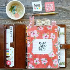 """planningmadeperfect: I love this quote.....I'm always thinking ahead and forget to live in the """"now""""...definitely something I need to work on. Next week in my Filofax"""
