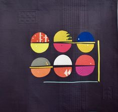 Macaroons #57 Sarah Geometric Quilt, Circle Quilts, Composition Design, Painting Patterns, Textile Art, Quilting, Textiles, Crafty, Circles