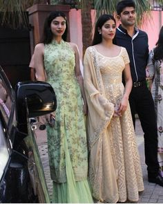 Image may contain: 4 people, people standing Mehendi Outfits, Pakistani Outfits, Indian Outfits, Traditional Fashion, Traditional Outfits, Kids Party Wear, Ethenic Wear, Pakistani Couture, Indian Designer Outfits