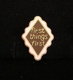 Alcoholics Anonymous First Things First Vest Pin NA Narcotics AA Al Anon | eBay