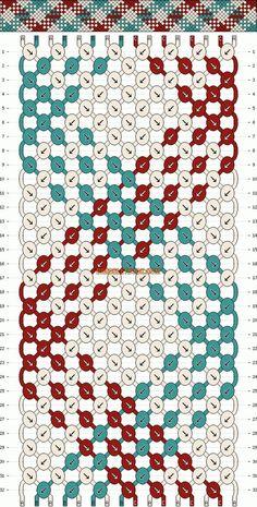 3 Colores A-B-C 75cm. (Patrón continuo, fila uno y dos siempre)