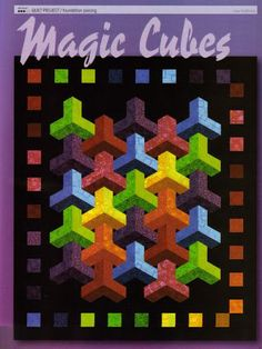 Magic Cubes Quilt (idea) Pattern for purchase Geometric Quilt, Hexagon Quilt, Hexagons, 3d Quilts, Mini Quilts, Quilting Projects, Quilting Designs, Support Photo, Optical Illusion Quilts