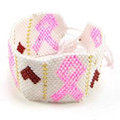 Whether your bracelet is as complex as this native beaded bracelet, or as simple as pink ribbons, bracelets that rock the pink are very popular.